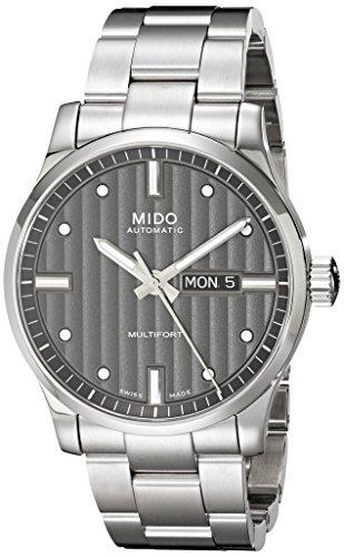 Mido Homme 42mm Bracelet & Boitier Acier Inoxydable Automatique Cadran Gris Montre MIDO-M0054301106180