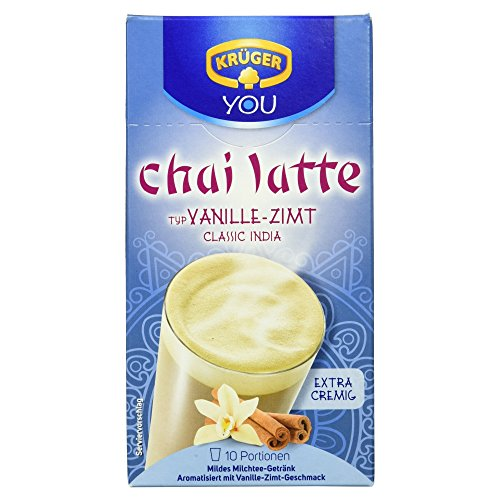 Krüger Chai Latte Vanille-Zimt Milchtee-Getränk , 2er Pack (2 x 250 g Packung) - Aromatisiertes Wasser-pulver