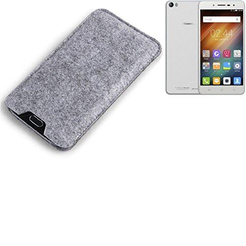 K-S-Trade Filz Schutz Hülle für Hisense L695 Schutzhülle Filztasche Filz Tasche Case Sleeve Handyhülle Filzhülle grau