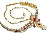 #2: Jewels Kafe Kamar Bandh Gold Plated Belly Chain Kamarband for Women
