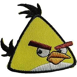 Toppe termoadesive - Angry Birds Comic bambini - giallo - 6,2x5,7cm - Patch Toppa ricamate Applicazioni Ricamata da cucire adesive