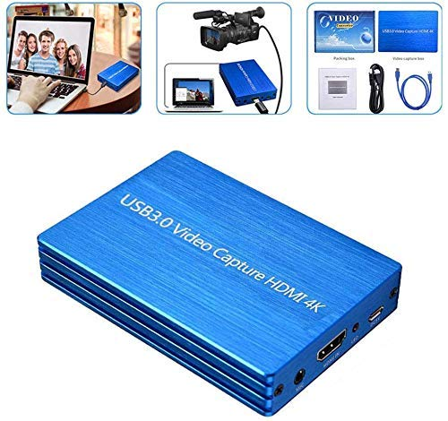 Game Capture HD - USB 3.0 HDMI Capturadora De Juegos Dispositivo, Live Gamer Portable Y Grabar En 1080p para Consolas De Videojuegos PS4 De Video Compatible con Windows Linux Os X, Plug-N-Play