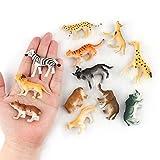 Vovotrade 12pc Enfants Enfants Jouets en Plastique Assortis Animaux Sauvages Jungle...