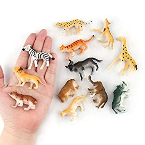 Vovotrade® 12pc Enfants Enfants Jouets en Plastique Assortis Animaux Sauvages Jungle Zoo Figure Kids Childrens Assorted Plastic Toy Wild Animals Jungle Zoo Figure (Multicolor)