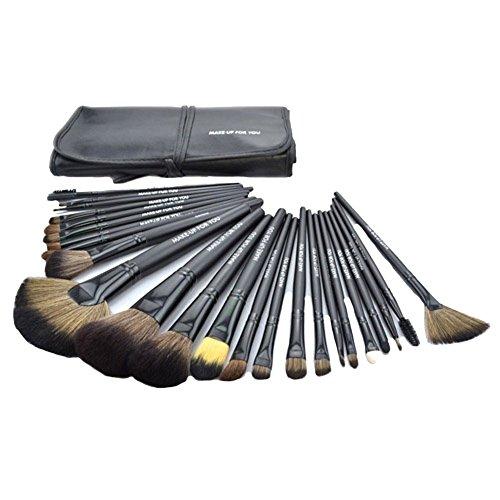 Keral Lot de 24 brosses de maquillage pinceau professionnelle Noir