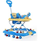 LuvLap Comfy Baby Walker & Rocker, Height Adjustable with Light & Musical Toys, 6m+ (Blue)