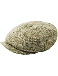 Failsworth Cappelli Carloway 8-Piece Bakerboy Harris Tweed Cappello in Blu  Grigio Mix be28f9277eca