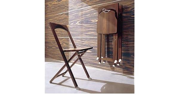 Calligaris set sedie richiudibili olivia colore wengè amazon