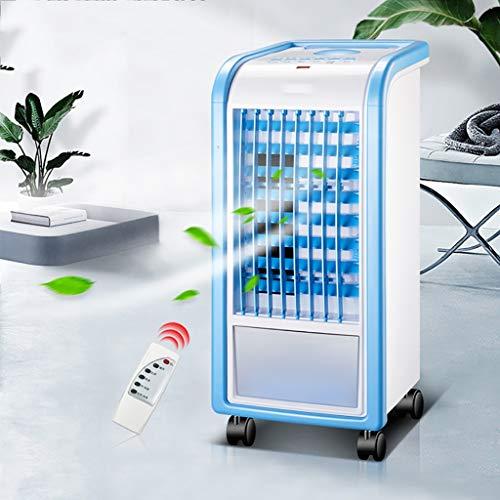 Ventilateur de glace bleu de refroidisseur d'air portable avec minuteries, ventilateur de climatiseur personnel avec purification et humidificateur, refroidisseur d'air domestique avec 3 vitesses de v