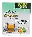 #1: Eco Valley Organic Green Tea, Dandelion and Mint, 25 Tea Bags with Free Green Tea, 5 Tea Bags
