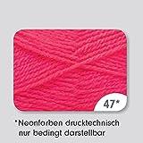 Grundl Lisa Strickgarn Schulgarn Strick-Wolle Bastelgarn 100% Acryl - Farbe neon_pink_47