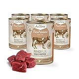 AniForte Hundefutter Rind Pur 6 x 400g für Hunde, Nassfutter ohne künstliche Vitamine oder Chemie, Barf Futter