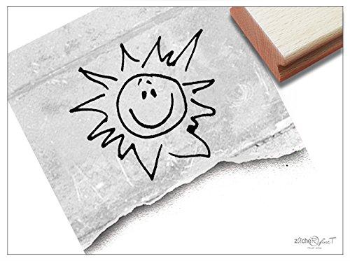 Stempel - Kinderstempel Motiv SONNE - Bildstempel Motivstempel Geschenk für Kinder - Kita Schule Einschulung Basteln Deko - von zAcheR-fineT