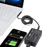 TÜV HKY 12V 2,58A Netzteil Ladegerät Ladekabel AC Adapter für Microsoft Surface Pro 3 & Pro 4 i5 i7 Tablet Model 1625, Surface Go, mit 5V 2A USB für USB Enable Geräte, Handys und Tablets
