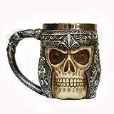 TG Holiday Taza del Cráneo del Acero Inoxidable De La Taza del Espíritu De Halloween Taza De Tazas del Cráneo De La Cerveza Regalo para Barra, Hogar, Cocina