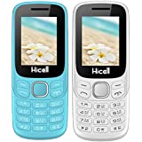 Hicell C9 Metro (Combo Of Two MOBILES) Dual Sim Mobile Phone With Digital Camera And 1.8 Inch Screen (White+LightBlue)