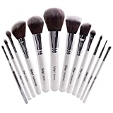 Nanshy Meisterhaftes Collection Make-up-Pinsel-Set - Onyx Schwarz oder Perlglanz Weiß (Perlglanz Weiß)