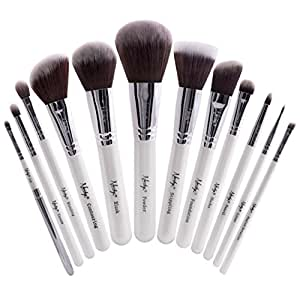 nanshy masterful collection makeup brush set onyx black