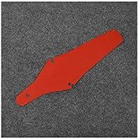 LridSu 2 Piezas portátil Ultrafino Frontal Tenedor Trasero Simple Intermitente Bicicleta de montaña Guardabarros (Rojo)
