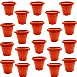 #2: Onbn Flower Pot For Indoor And Outdoor ( Set Of 20 Plastic Pot)- 4 Inch Diametre Plant Pot