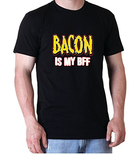 Bacon is my BFF Best Friend Forever Awesome Funny Men Herren Black T-shirt