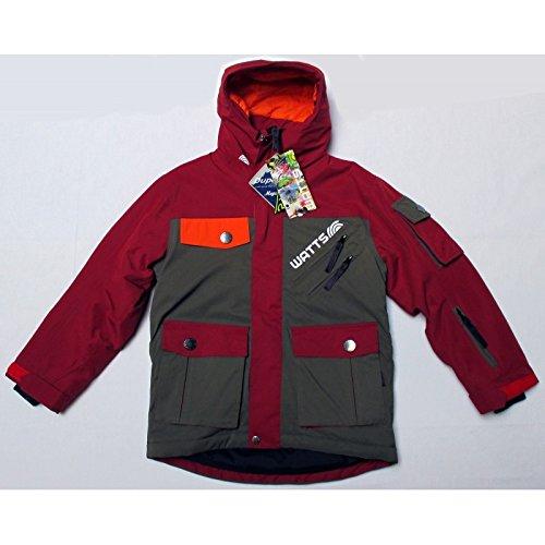 Watts Veste Ski junior Gangs Kaki/Rouge n°283b