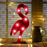 SPECOOL 3D LED Flamingo lumière Flamants Rose lampe de nuit Romantique alimenté par batterie Marquee Flamingo Table lumières pour la maison de la Chambre d'enfant Kid's Birthday Party décorations