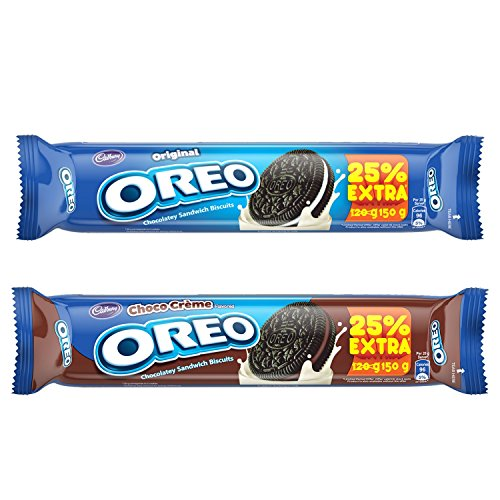 Cadbury Oreo Crème Biscuit Promo Pack Combo, 120g (Vanilla X 5 Units + Chocolate X 5 Units)