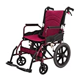 Shisky Manual wheelchair Aluminum alloy multi-function scooter Lightweight folding four-wheeled wheelchair