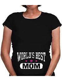 657fd7c334d3 Altra Marca T-Shirt Premaman Bianca o Nera World s Best Mom Maglietta per  la Festa