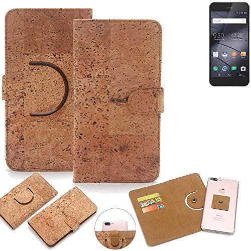 K-S-Trade Schutz Hülle für Gigaset ME I Pro Handyhülle Kork Handy Tasche Korkhülle Schutzhülle Handytasche Wallet Case Walletcase Flip Cover Smartphone