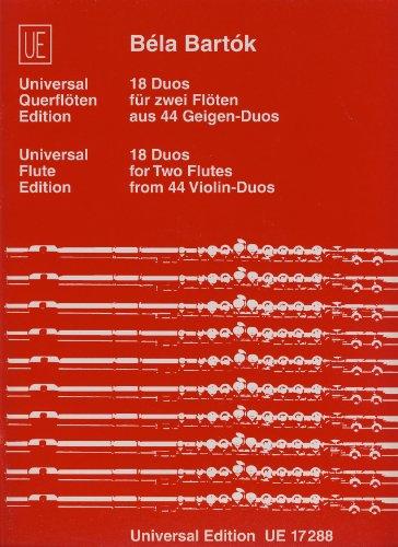 UNIVERSAL EDITION aus den 44 Geigen-Duos Klassische Noten Querflöte
