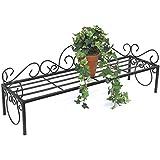 Flores de mi Negro Florero 75cm Flores Banco Estantería Escalera para flores plantas Escaleras