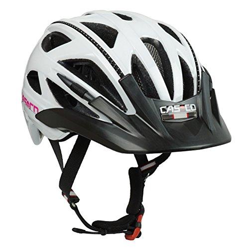 Casco Fahrradhelm für Kinder Activ 2 Junior, weiß-pink Glanz - Biese schwarz, Gr. S (52-56 cm)