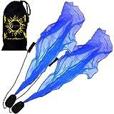 Pro ANGEL WINGS Poi Set (Blau) Flames N Games Spiral Poi. Swinging Poi und Spinning Pois! Pois für Anfänger und Profis.