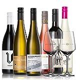 GEILE WEINE Weinpaket EINSTEIGERSET (6 x 0,75) Probierpaket mit Weißwein, Rotwein und Rosé von Winzern aus Deutschland und Frankreich