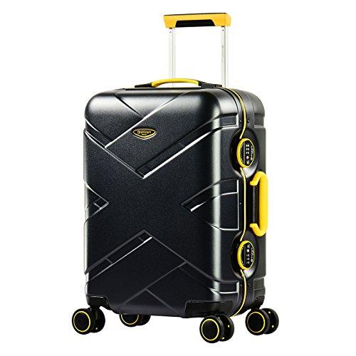 Eminent Crossover, Unisex-Erwachsene Handgepäck Schwarz schwarz/gelb Größe S