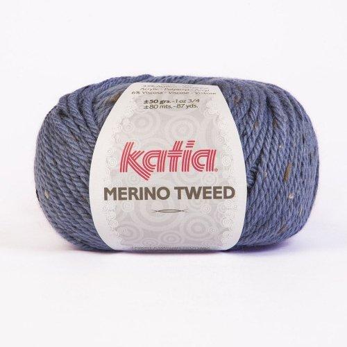 Katia Merino Tweed - Farbe: Azul (306) - 50 g / ca. 80 m Wolle -