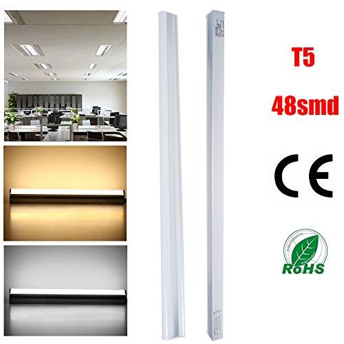 4-Pack THG LED Tube Light T5 9-watt 60cm 800 Lumens, 2-Feet,voltage 85-260V, 48SMD2835, Warm White (Skylight Tube)
