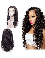 Maxine bouclés Lace Front Perruques Cheveux humains Densité de 130% brésiliens bouclés perruque avec cheveux de...