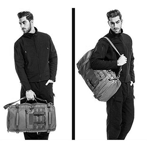 AMOS Outdoor-Bergsteigen Tasche Männer und Frauen Rucksack große Kapazität 45L / 60L Reisen Wandern Rucksack Freizeitsport Tarnung Tasche Spotted