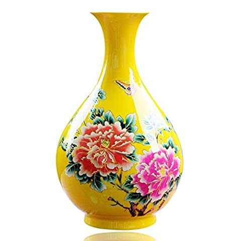 Maivace Ceramic Vase Decorative Ornaments Ceramic Spring Flower Arrangement Modern Simple