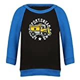 Clifton Baby Boys Raglan Printed Full Sleeve T-shirts -Black-Royal Blue -Construction -0-6 Months Amazon