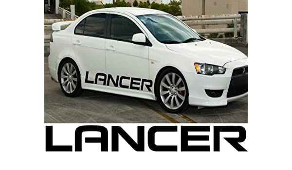 2X Multiple Color Car Graphic Japanese Vinyl Decal Sticker for Mitsubishi Lancer