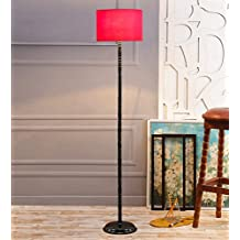 Red Cotton & Stiffner Designer Stick Floor Lamp /Standing Lamp By New Era For Living Room /Drawing Room/Office/Bedroom/Decoration /Corner/Gift/Lobby