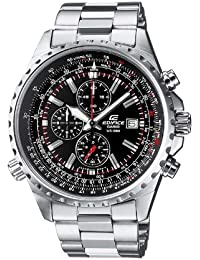 Casio Edifice Herrenuhr Analog Quarz mit Massives Edelstahlarmband – EF-527D-1AVEF