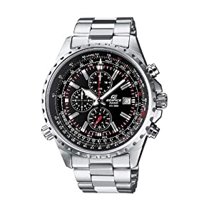 Casio Edifice Herren Massives Edelstahlgehäuse und Edelstahlarmband Uhrenarmband EF-527D-1AVEF