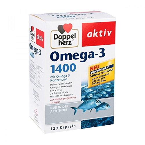 Preisvergleich Produktbild Doppelherz Omega-3 1.400 Kapseln 120 stk