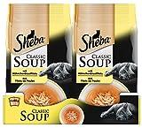 Sheba Katzenfutter Nassfutter Classic Soups Hühnchenbrustfilets, 12 Packungen (12 x 4 x 40 g)