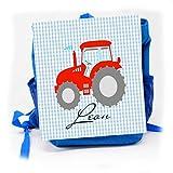 Kindergartenrucksack mit Namen Kindergartentasche für Jungen Traktor/personalisiertes Geschenk